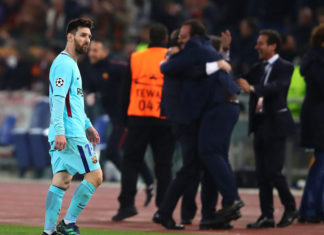 Lionel Messi after roma bear barcelona