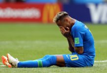 Neymar Cried after scoring a goal