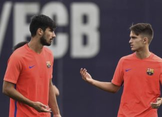 Denis Suarez and Andre Gomes