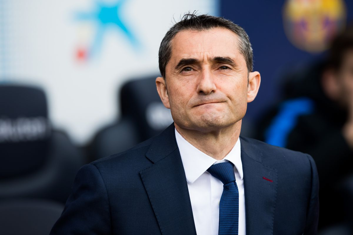 Barcelona Manager Ernesto Valverde during champions league match vs Roma