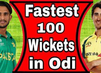 fastest to Reach 100 ODI Wickets